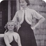 Vintage knitting pattern: 1954 Mother & Daughter Shrug