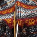 Simple beauty of a steek in my fair isle knit