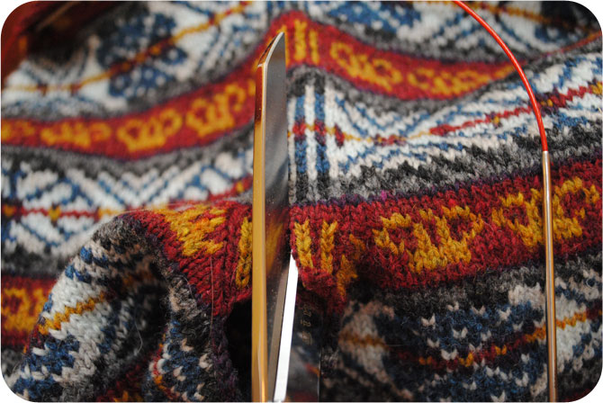 Simple Beauty Of A Steek In My Fair Isle Knit By Gum By Golly