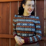 Red Queen fair isle pullover: finished!
