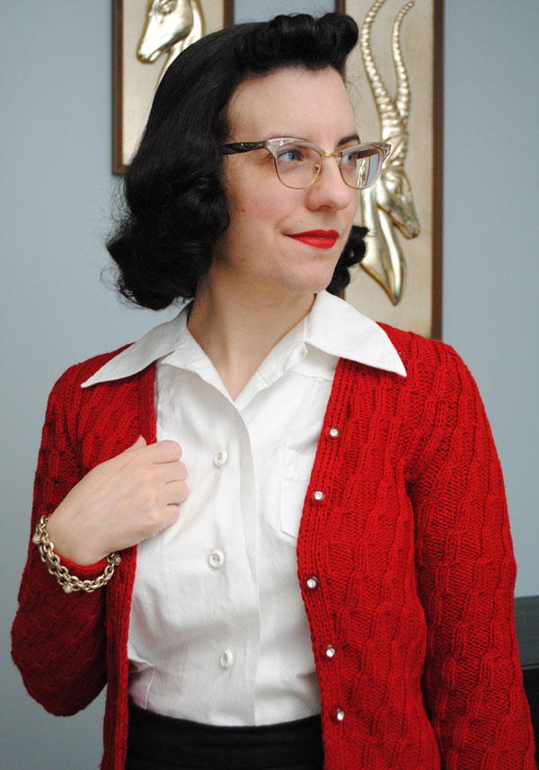 My Curlicute Cardigan And Free Vintage Pattern By Gum By Golly