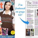 I'm featured in Knit Now magazine!