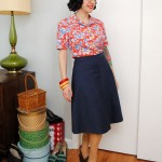 History is riding on my back: not-quite-Me-Made-May blouse & skirt