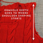 Fit & knit a 40s pullover series: row gauge, armholes and shoulders