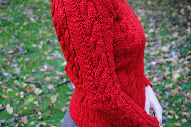 finished Campus Classics Cable Pullover 1947