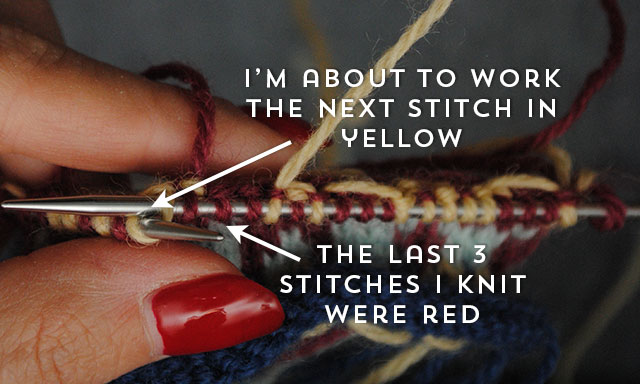 color change in stranded knitting