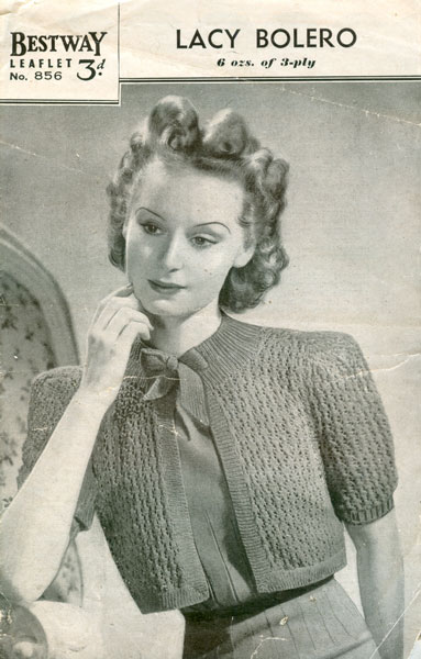 1940 Knitting Patterns Free : Knit for Victory: spotlight on boleros By Gum, By Golly