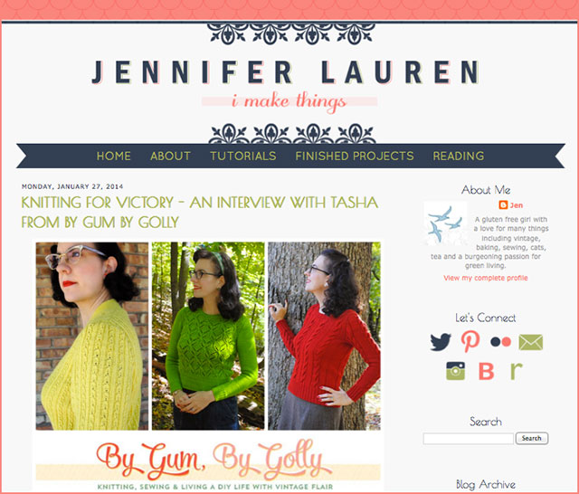 Knitting for Victory: interview at Jennifer Lauren Vintage