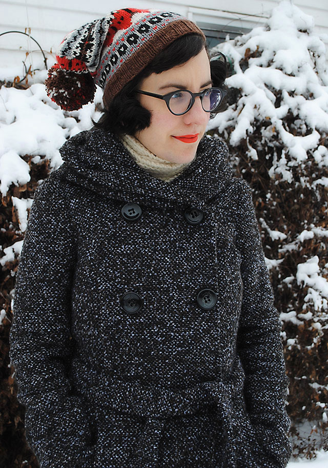Fox Isle hat with ModCloth coat