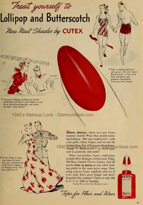 Cutex Ad 1941 - via Glamour Daze