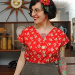 Afternoon Blouse: Jennifer Lauren Vintage pattern testing