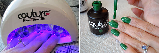 Couture gel polish, curing and painting
