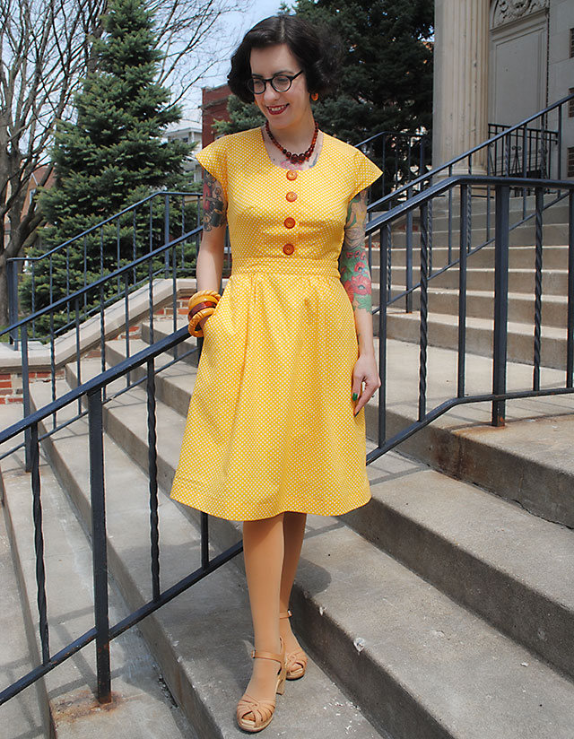 Sew for Victory dress - McCall 6116 (1945)