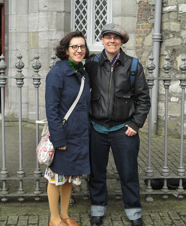 outside Dublin Castle with Mel