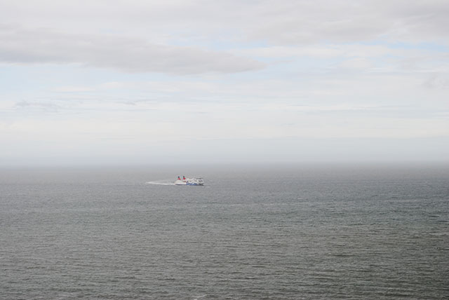 ship crossing the Irish Sea
