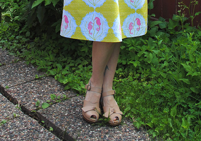 Sven Clogs with my Seahorses wrap dress