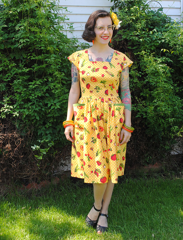 Eat Your Veggies dress