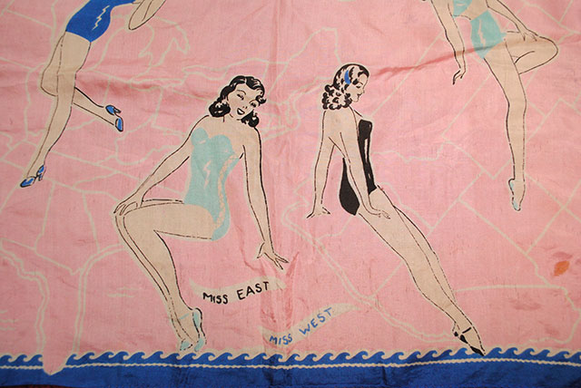 1940s Miss America scarf (Miss East and Miss West)