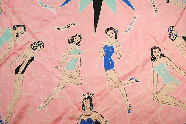 1940s Miss America scarf (Miss North and Miss South)