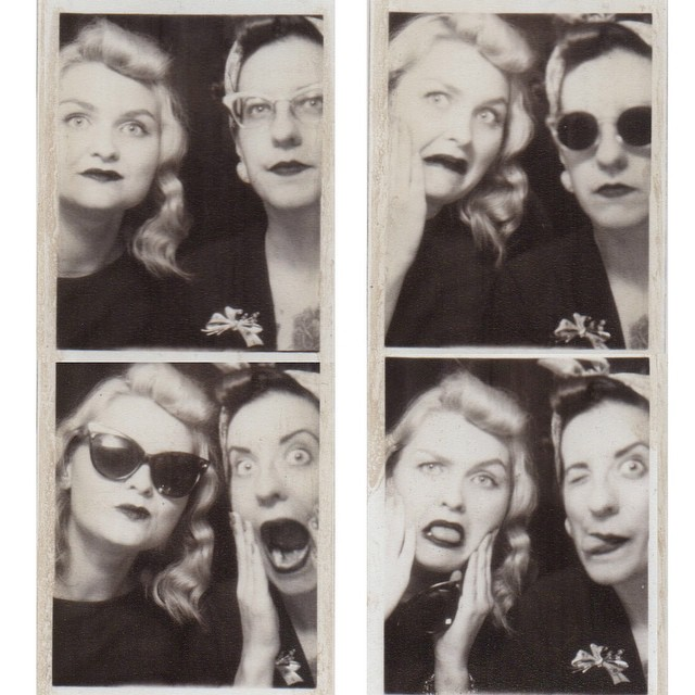 Old school photo booth with @visforvictoryrolls yesterday. The first was supposed to be smiling but is more like