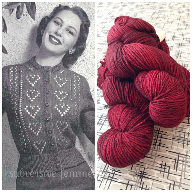 Reminding myself when I get through my neverending cowl, my prize is this next project! ? I need a quick cardigan before launching into a bigger stranded project. Ten of Hearts cardigan pattern from Subversive Femme's Etsy shop. (Love Bex, wish she was on IG!!)