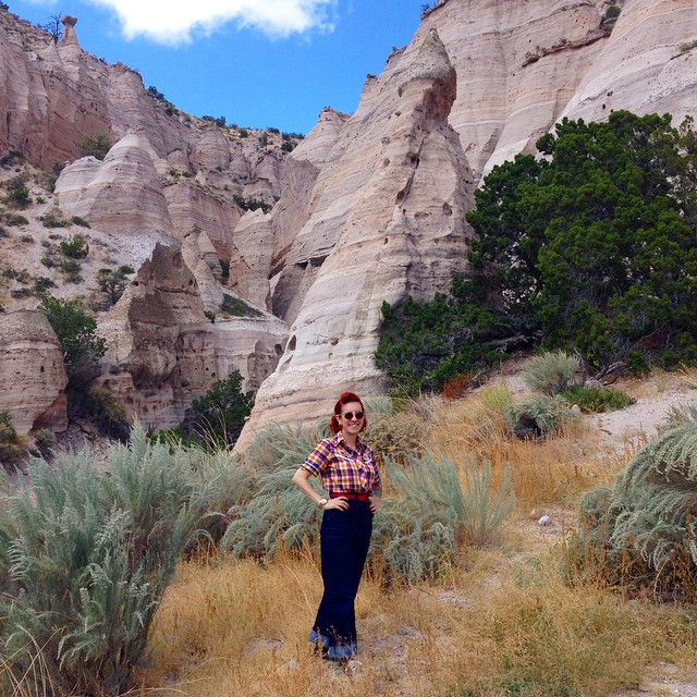 Hello from Tent Rocks National Monument!