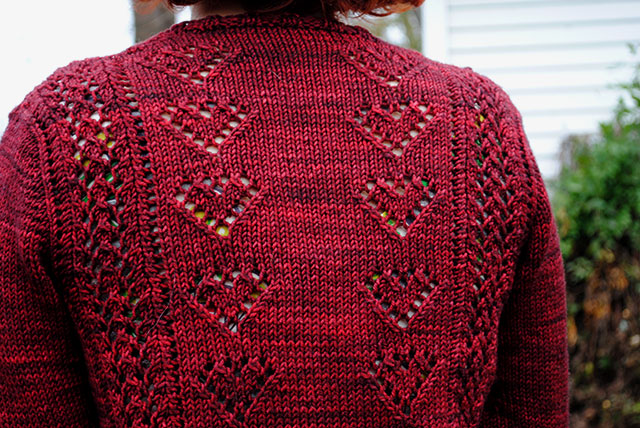 Ten of Hearts cardigan back