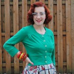 A vintage-inspired Jenna cardigan… that I sewed!