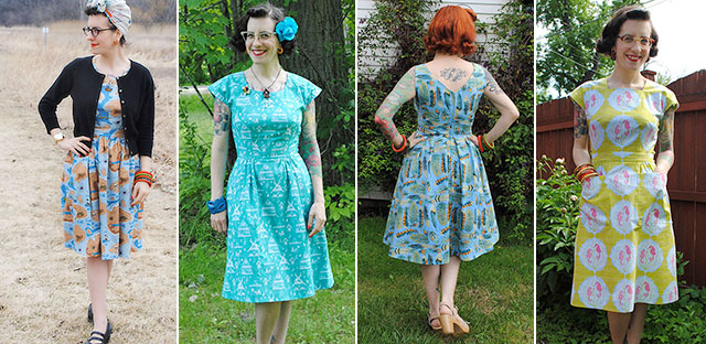 A few dresses I made in 2014