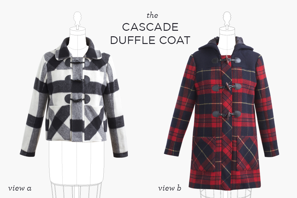 Cascade Duffle Coat from Grainline Studio