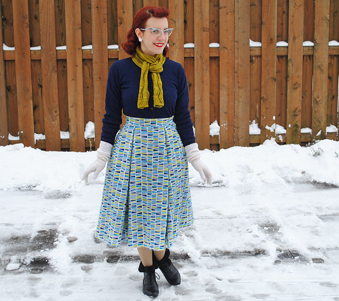 Joan C's flannel skirt