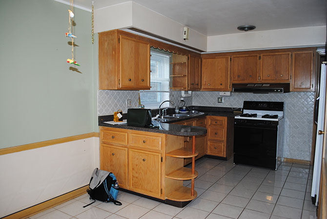 kitchen when we moved in