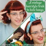 Vintage hairstyle trick to hide bangs