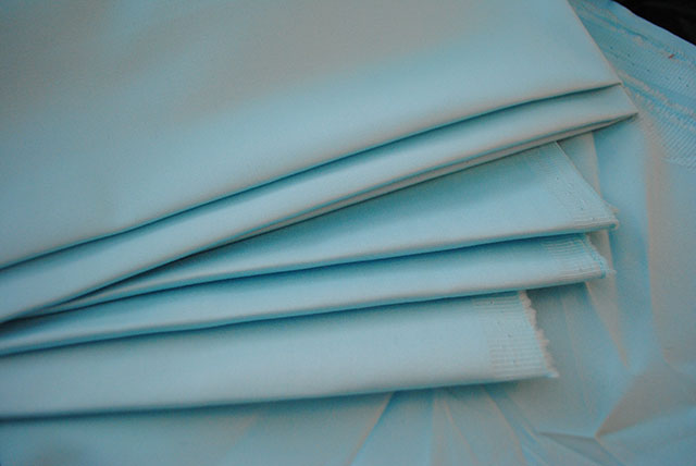 baby blue sateen from Mood Fabrics