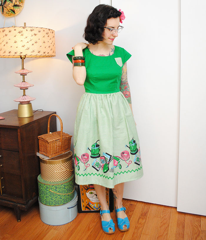 Victory Gardening birthday dress