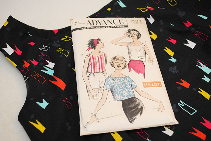 Advance 9030, late 50s vintage sewing pattern
