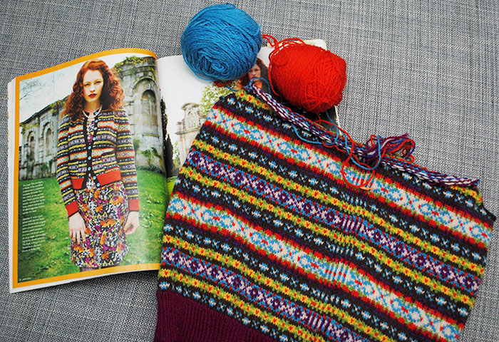 Forlorn and forgotten: my Debbie Bliss fair isle cardigan