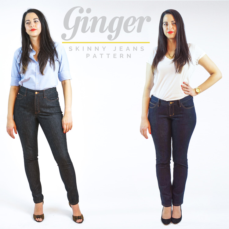 Ginger jeans skinny pattern, copyright Closet Case Files