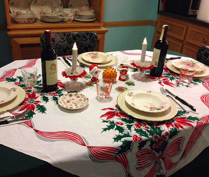 Christmas Eve table
