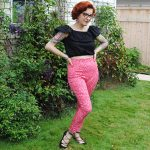 Confession, pink leopard print cigarette pants, and a Vintage Pledge guest post