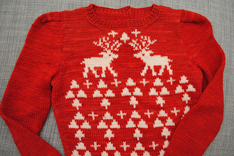 Perfect Christmas Jumper (pattern by Susan Crawford)