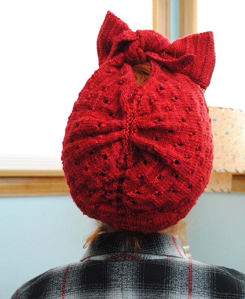 Grab and go knitting: an Angel Face turban   By Gum, By