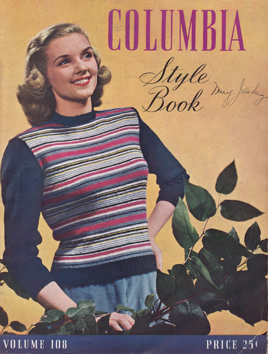 Vintage knitting pattern: Date-Maker cardigan | By Gum, By Golly