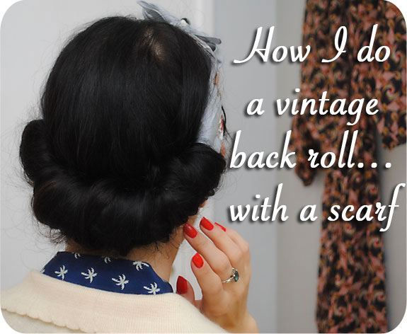 How I Do A Vintage Back Roll Using A Scarf By Gum By Golly