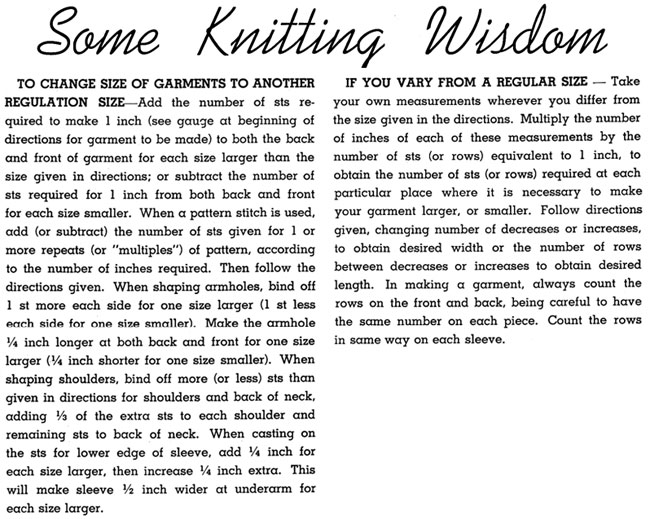 How to knit instructions.