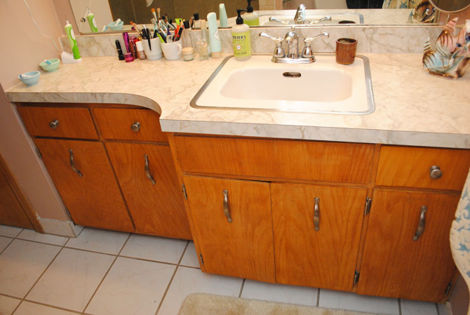The Golly Ranch Bathroom Remodel Before During Renovation By - 1950's style bathroom vanity