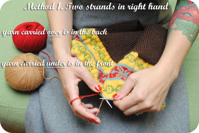 VKC: Getting started with stranded (fair isle) knitting | By Gum ...