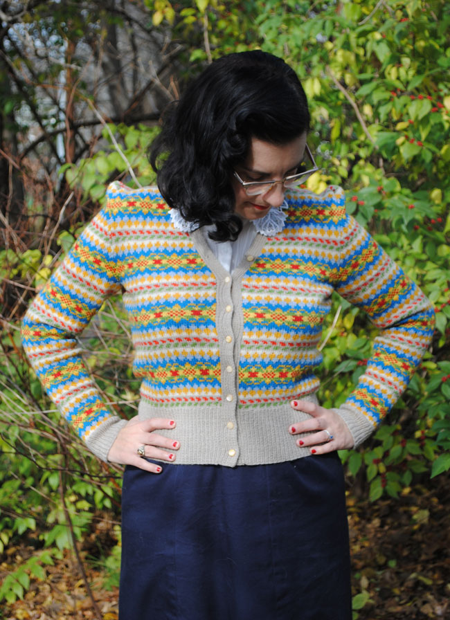 My lovely stranded cardigan! | By Gum, By Golly