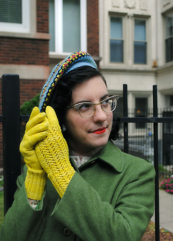 Fair isle beret & lace gloves for Fall | By Gum, By Golly