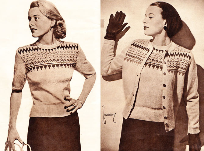 1952 inspiration: Finnish knitting patterns By Gum, By Golly